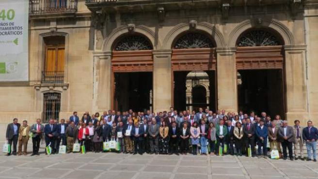 Jaén.- MásJaén.- Diputación homenajea a los ayuntamientos en el 40º aniversario
