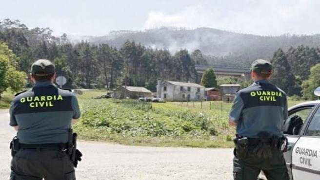 Guardias civiles en el medio rural