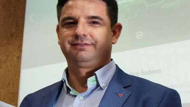 Pedro García en una presentación de Sadeco
