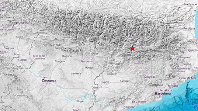La zona donde ha tenido lugar el terremoto.