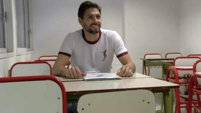 El portero Germán Lux, en el Instituto River.