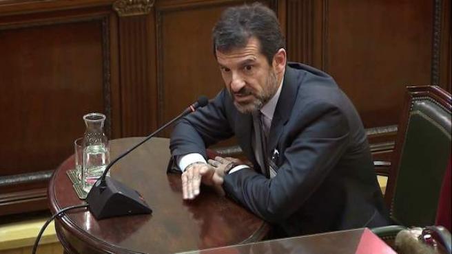"""El comisario de los Mossos d'Esquadra Ferran López, durante el juicio del """"procés""""."""