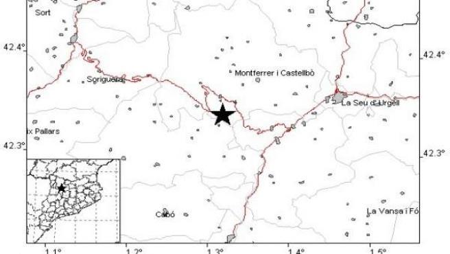 El terremoto en el Alt Urgell (Lleida) no provoca daños materiales