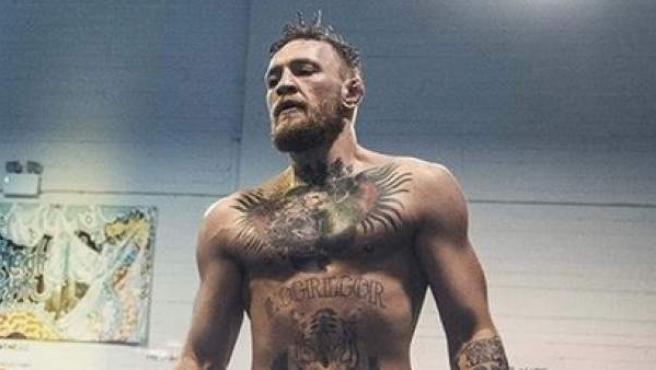 El luchador Conor McGregor en un entrenamiento