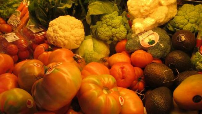Verdura, fruta y hortalizas.