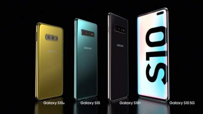 Todos los dispositivos de la familia Samsung Galaxy S10.