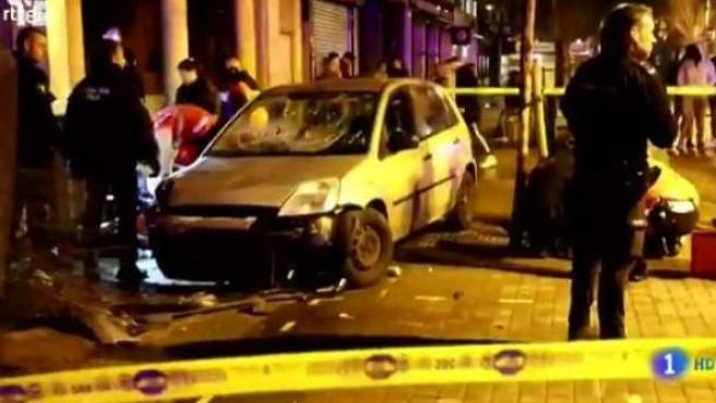 Escenario tras el atropello de cuatro personas en Palma.