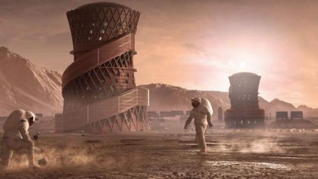 Así ve la NASA las futuras viviendas en Marte