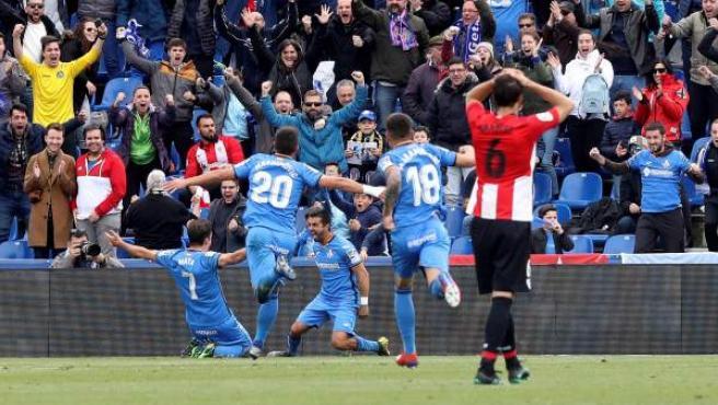 Ángel celebra su gol al Athletic.