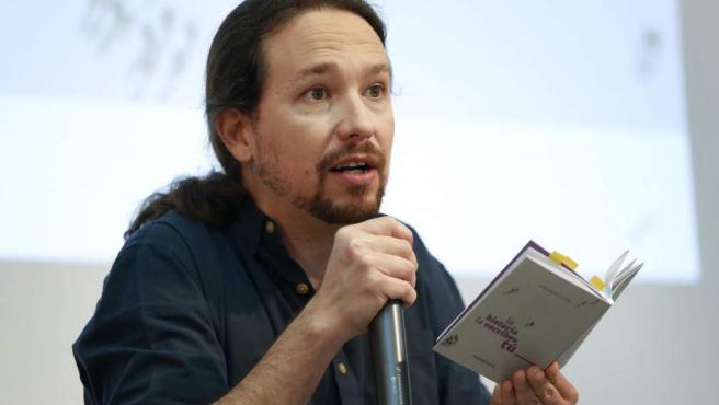 El secretario general del partido y candidato de Unidas Podemos a la presidencia del Gobierno, Pablo Iglesias, presenta su programa electoral para el 28A.