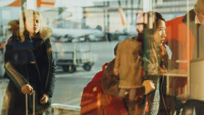 Esperas en el aeropuerto.