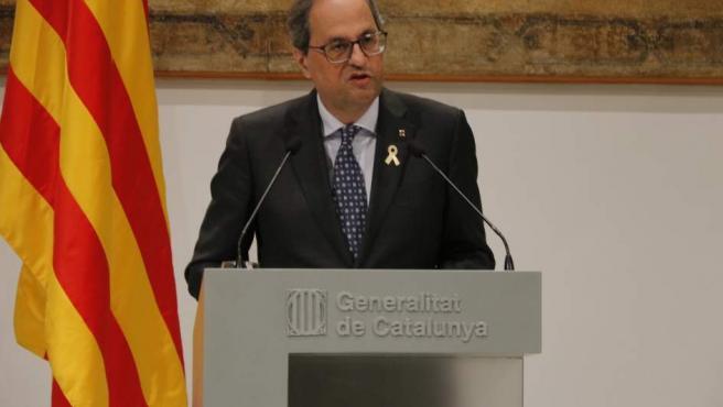 Declaración institucional del president de la Generalitat, Quim Torra.