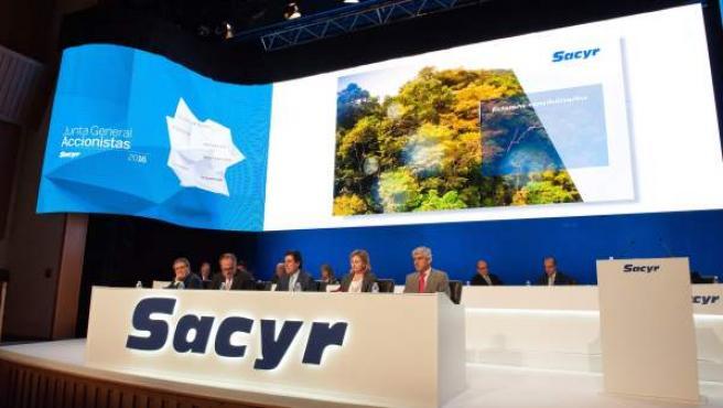 Junta general de accionitas de Sacyr, en una imagen de archivo.