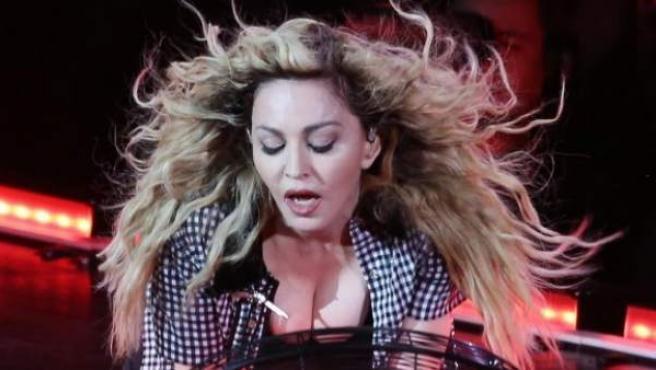 La cantante Madonna durante un concierto en Canadá.