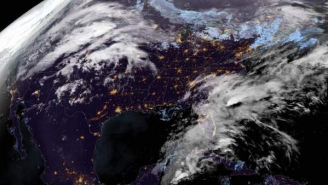 EE UU, México y el Caribe, en una imagen a partir de una fotografía de satélite.