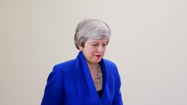 La primera ministra británica, Theresa May, ofrece una rueda de prensa tras una cumbre especial de la UE sobre el 'brexit', que acabó con un aplazamiento, hasta el 31 de octubre, de la salida del Reino Unido de la UE.