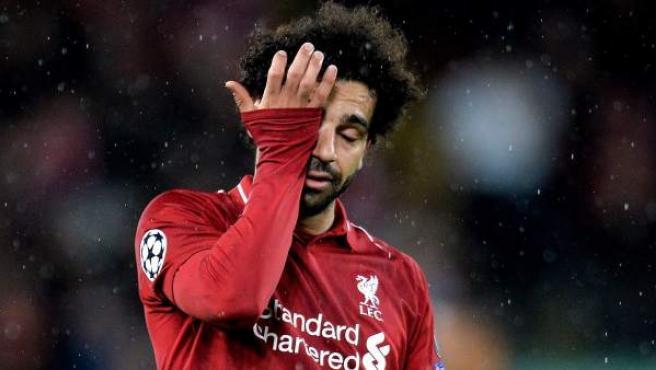 Salah, estrella del Liverpool, durante el encuentro ante el Bayern
