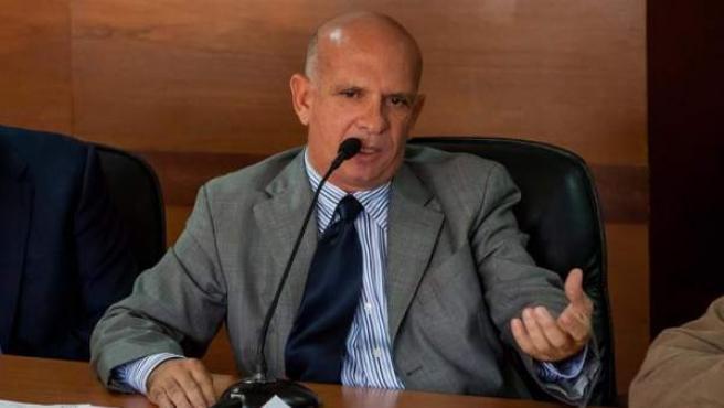 El exjefe de contrainteligencia militar de Venezuela y diputado Hugo Carvajal, en la Asamblea Nacional venezolana, en una imagen de archivo.
