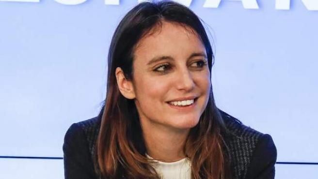 Andrea Levy, en un acto en la sede del PP en Madrid.