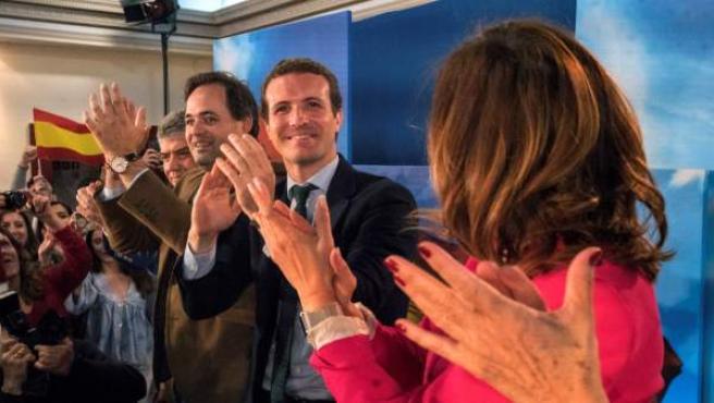 Pablo Casado, en un acto de campaña en Ciudad Real.