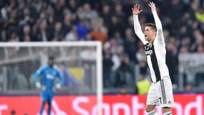 Cristiano Ronaldo, en el Juventus - Ajax.