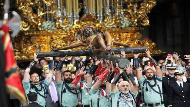 Santa Sustitución El Desembarco De La Legión Y El Traslado Del Cristo De La Buena Muerte Emocionan A Málaga