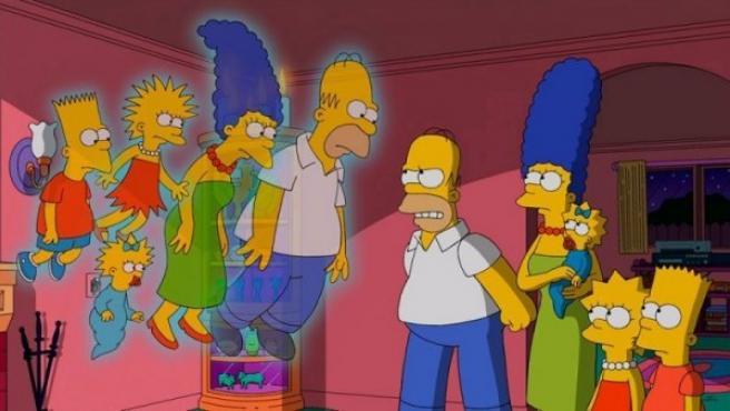 Los Simpson se encuentran con su versión de 1987 en una parodia de la película 'Los otros', de Amenábar.