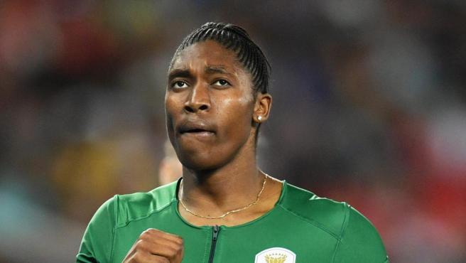 La sudafricana Caster Semenya tras las semifinales de los 800 metros en los Juegos de Río.