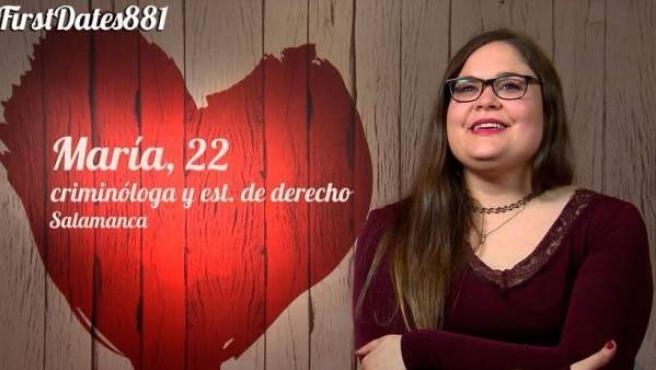 María, en su visita a 'First dates'.