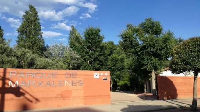 Puerta del parque de Marxalenes de València