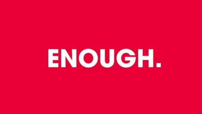 'Enough', el lema de la campaña de los futbolistas profesionales de Inglaterra.