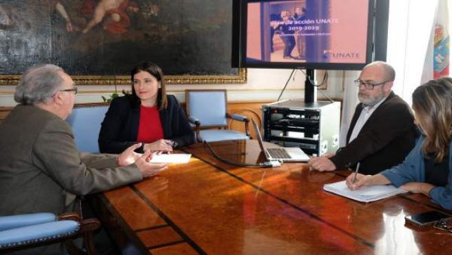 Santander.- UNATE presenta a la alcaldesa su nuevo Plan de Acción 2019-2029