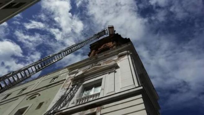 Cádiz.- S.Santa.- Acotada la entrada a la iglesia de San Juan de Dios tras la caída de un cascote este jueves