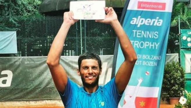 El tenista brasileño se proclamó campeón en Bolzano el pasado mes de agosto.