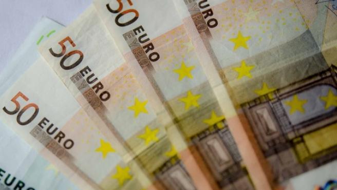 Imagen de archivo de billetes de 50 euros.