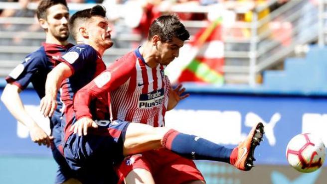 Sergio Álvarez y Morata, en el Eibar - Atlético de Madrid.