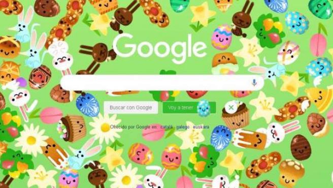 Google dedica este Domingo de Resurrección a los huevos de pascua, a la repostería y a otras tradiciones de este día.