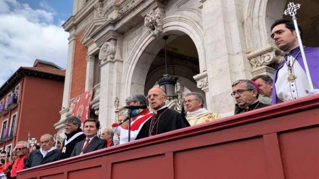 S. Santa.- Blázquez pide 'esperanza' en los 'últimos tramos de la vida' en el fervorín final de la Pasión vallisoletana
