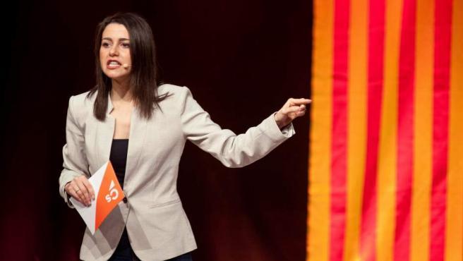 Inés Arrimadas, en un mitin de Ciudadanos.