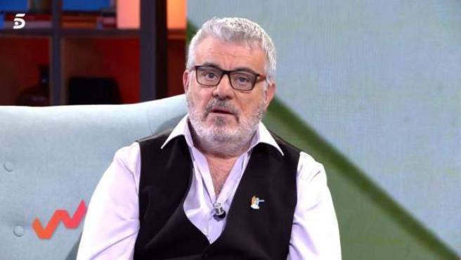 Millán Salcedo, ex de Martes y Trece, en el plató de 'Viva la vida'.