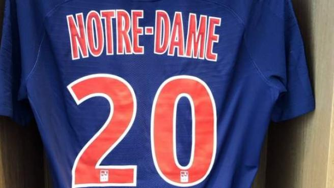 El homenaje del PSG a Notre Dame