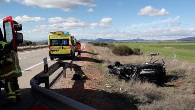 Accidente de tráfico en Zaragoza.