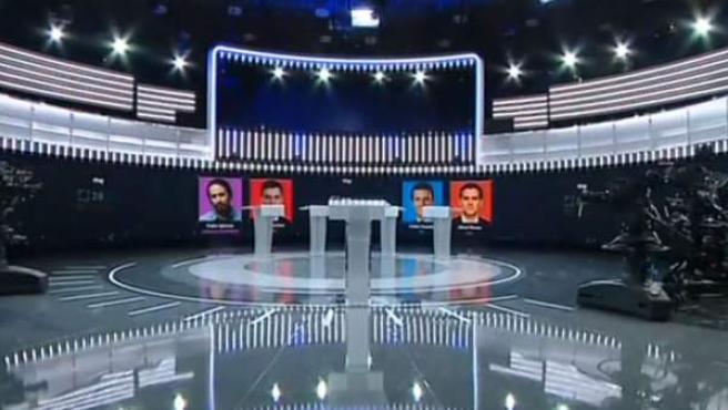 Plató donde tendrá lugar el debate electoral de RTVE.