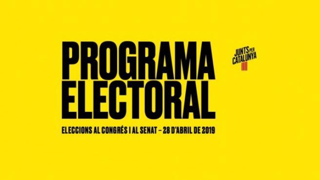 Portada del programa electoral de Junts per Catalunya.