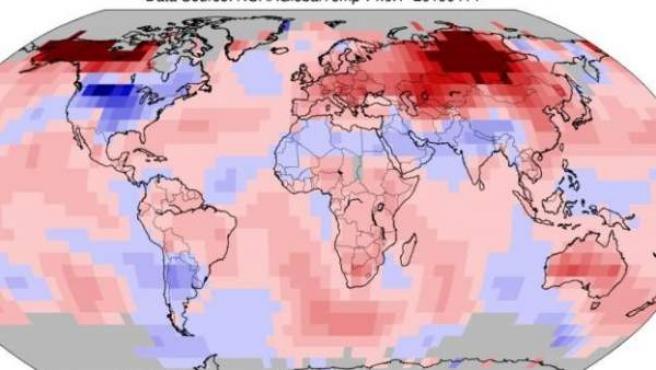 Temperaturas en marzo de 2019.
