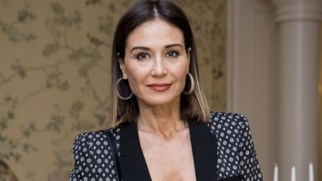 La modelo, presentadora y ex Miss España Juncal Rivero durante la presentación de un acto de José Zorrilla.