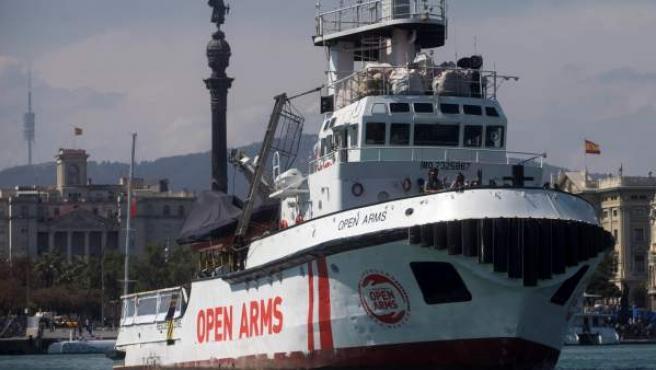 El Open Arms zarpa desde Barcelona.