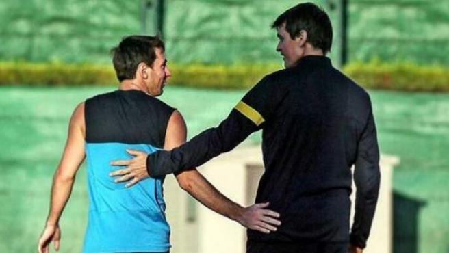 Messi compartió una imagen junto a Tito Vilanova en el aniversario de su muerte.