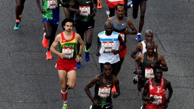 Atletas durante un maratón.