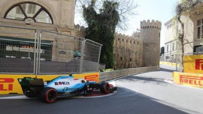 Robert Kubica en el circuito de Azerbaiyán.